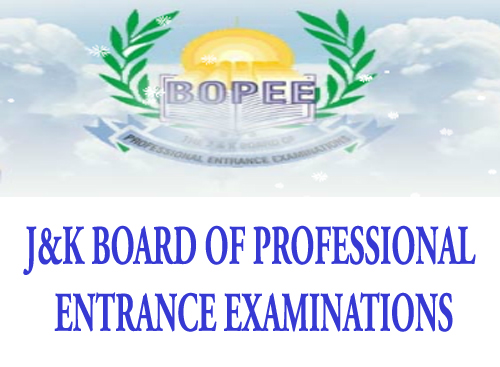 J&K Board Of Professional Entrance Examination